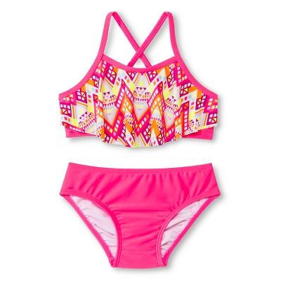 Baby Girls' 2-Piece Zig Zag Bikini Dazzle Pink 9M - Circo™
