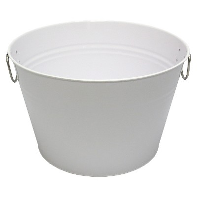 Summer Round Beverage Tub - White