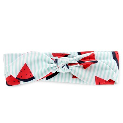 Girls' Watermelon/Stripe Bow Headband Blue/Red - Circo™