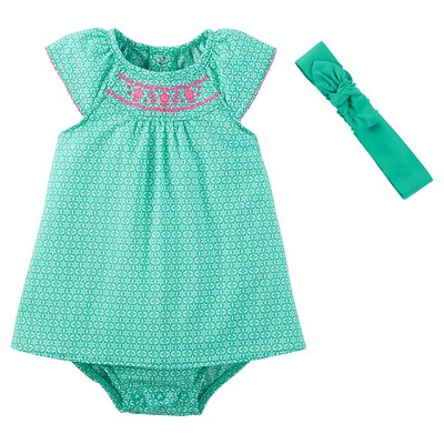 Just One You™Made by Carter's® Baby Girls' Sunsuit with Headband - Teal 9M