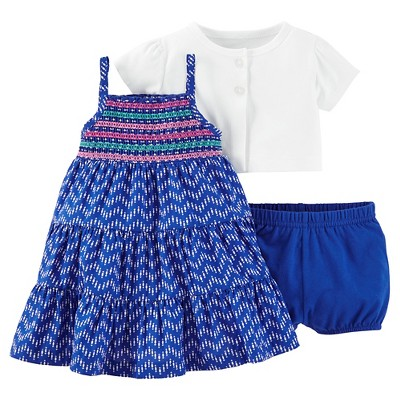 Just One You™Made by Carter's® Baby Girls' 2 Piece Dress Set - Bright Blue NB