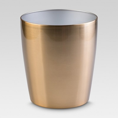 InterDesign Steel Round Wastebasket