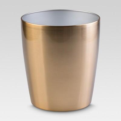 InterDesign Steel Round Wastebasket