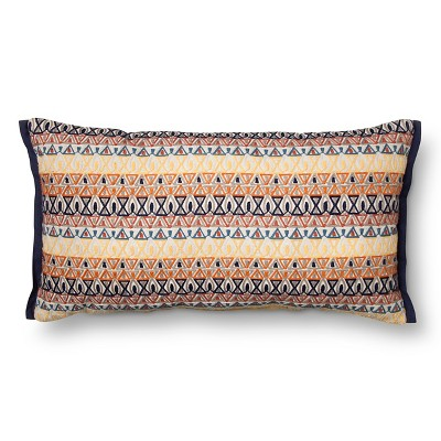 Embroidered Geo Oversized Oblong Throw Pillow - Multi-Colored - Threshold™