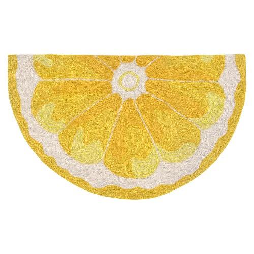 Lemon Slice Kitchen Rug
