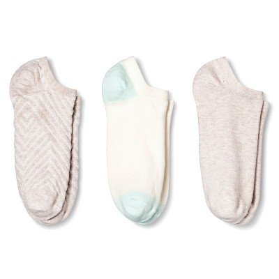 Women's Low-Cut Socks 3-Pack Texture Oatmeal One Size - Merona™
