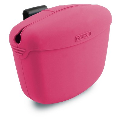 """Dexas Pooch Pouch™ Clip-On Training Treat Container - Pink (4.6""""X2.8""""X3.5"""")"""