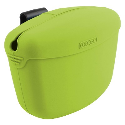 "Dexas Pooch Pouch™ Clip-On Training Treat Container - Green (4.6""X2.8""X3.5"")"