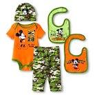 Disney Mickey Mouse Baby Boys' 5 Piece Set - Orange 0-6 M