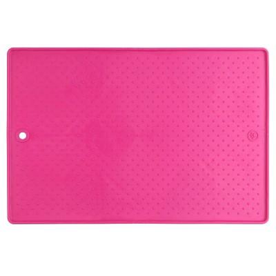 "Dexas Grippmat™ Placemat Pet Bowl - Pink (13""X19"")"