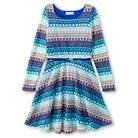 Girls' Lots of Love A Line Dress - Royal Blue Turquoise 16
