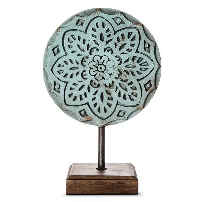 Decorative Sculpture Boho Boutique Blue Iron