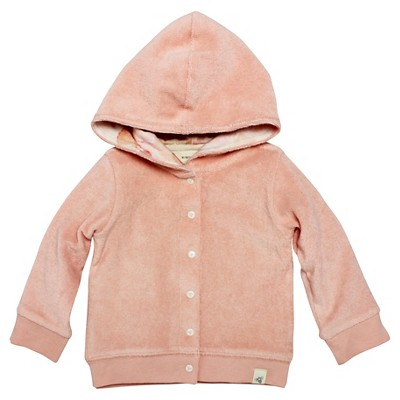 Burt's Bees Baby Infant Girls' Hooded Jacket - 3-6M Peach