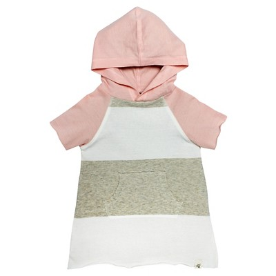 Burt's Bees Baby Infant Girls' Hooded Tunic - 6-9M Striped