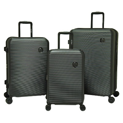 Travelers Polo & Racquet Club Shanghai Luggage Set- Black