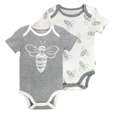 Child Bodysuits Burt's Bees Heather Grey 18 M