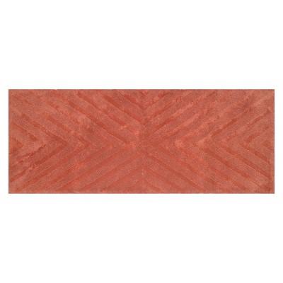 Bath Rug Runner Wave Light Red - Nate Berkus™