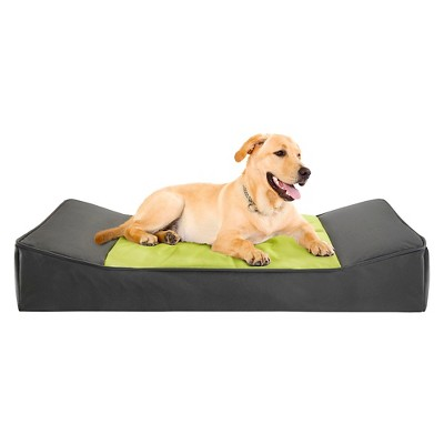 "Bruno Grey/Citron Stretch Lounger Pet Bed (24x42+4"")"