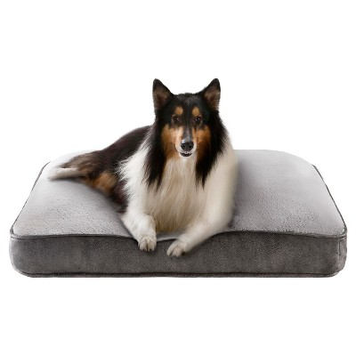 Samson Grey Reversible Rectangular Napper Pet Bed (27x36 )