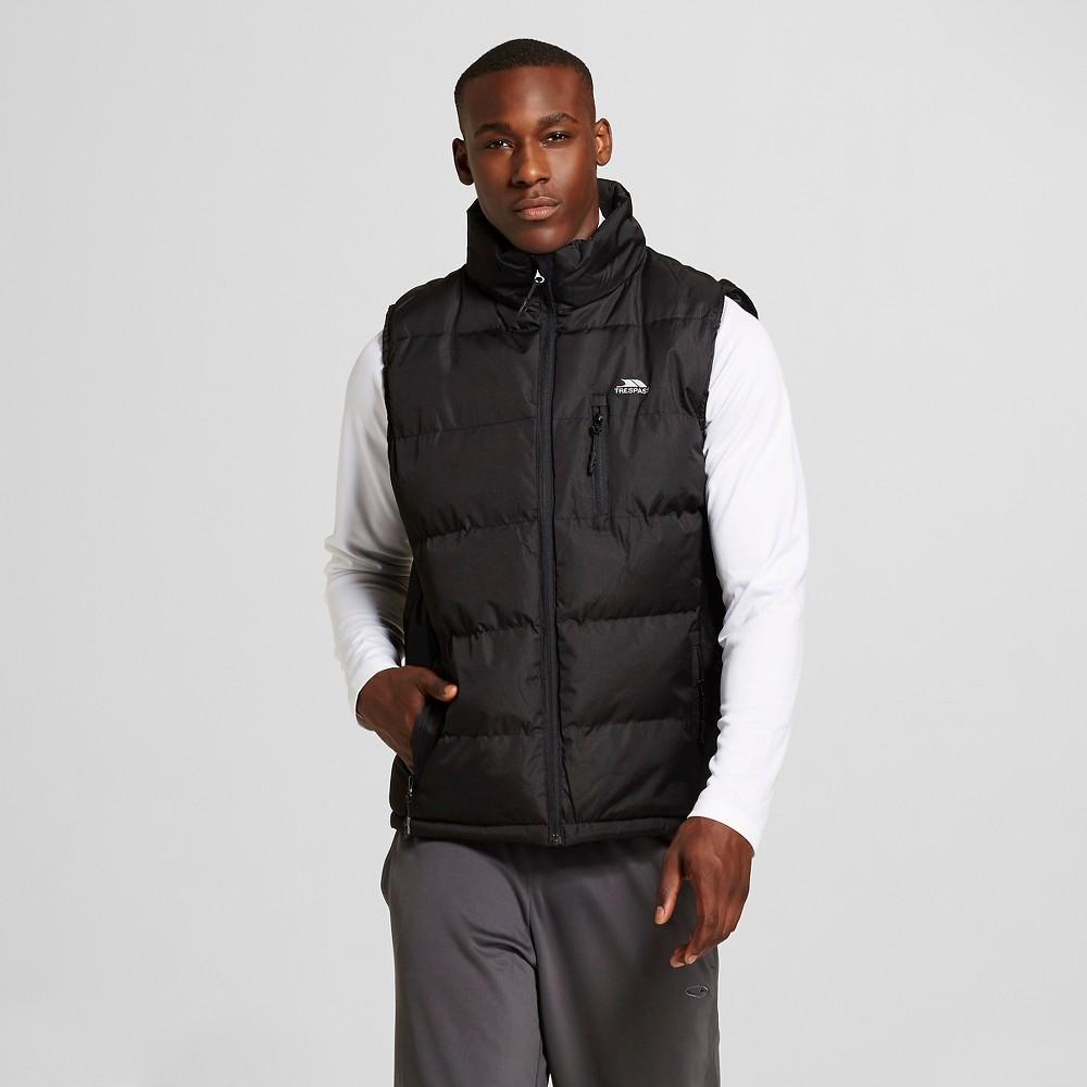 Men's Midweight Puffer Vest Black - Trespass S, Size: Small