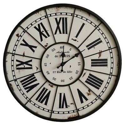 "Rustic Parisian Wall Clock 20"" - Threshold™"