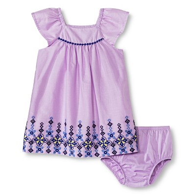 Baby Girls' Embroidered Lawn Dress Purple 12M - Cherokee®