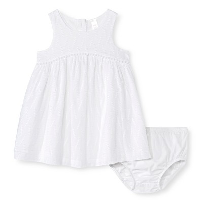 Baby Girls' Pom Pom Dress White 12M - Cherokee®