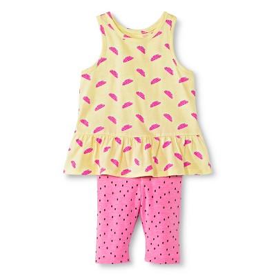 Baby Girls' Watermelon Tank and Legging Pant Set Yellow/Pink 12M - Circo™
