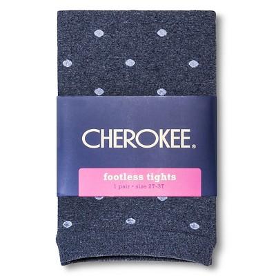 Baby Girls' Polka Dot Footless Tights Navy 12-24M - Cherokee®