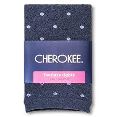 Toddler Girls' Polka Dot Footless Tights Navy - Cherokee®