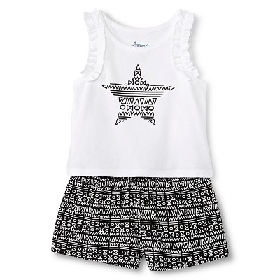 Baby Girls' Star Tank and Short Set White/Black 18M - Circo™