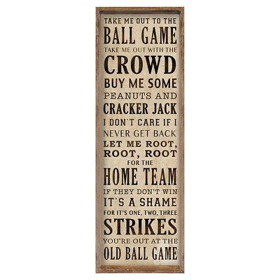 """Take Me Out To The Ballgame""  Wall Art"