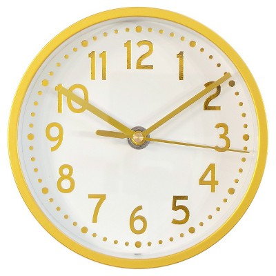 "Wall Clock Brass 6"" - Threshold™"