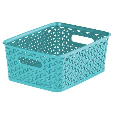 Y Weave Small Storage Bin - Aqua - Room Essentials™