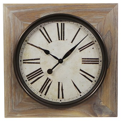 "Washed Wood Wall Clock 23"" - Threshold™"