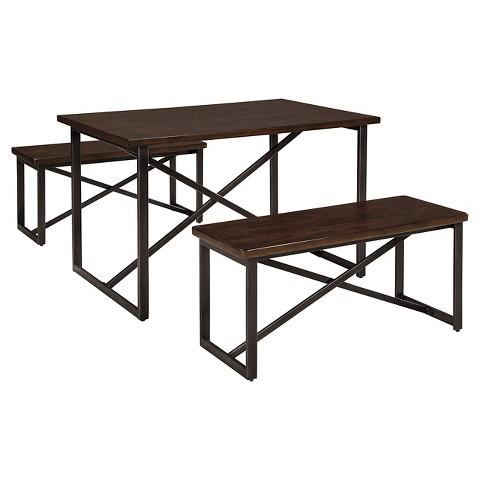 3 piece joring rectangular dining room table set target