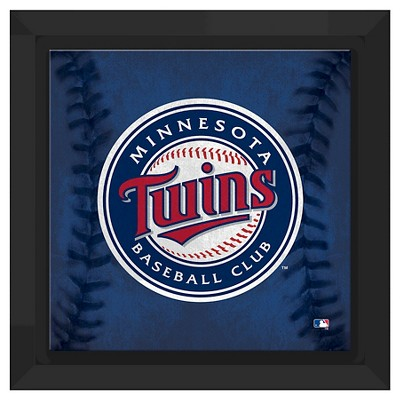 Minnesota Twins Logo Framed Canvas