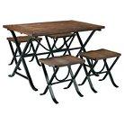 5 Piece Freimore Rectangular Dining Room Table Set Metal/Medium Brown - Signature Design by Ashley
