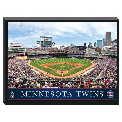 Minnesota Twins Stadium Metallic Canvas