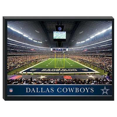 Dallas Cowboys' Stadium Metallic Canvas