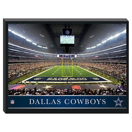 Dallas cowboys 39 stadium metallic canvas target for Dallas cowboys stadium wall mural