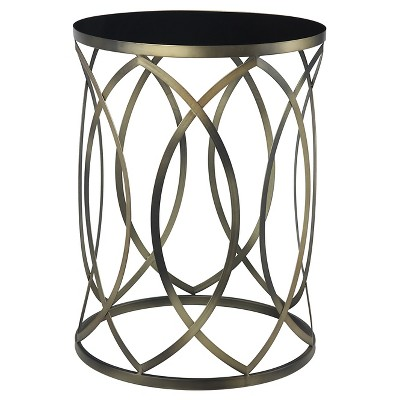 Gold Coast Round Accent End Table - Convenience Concepts