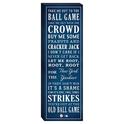 """New York Yankees """"Take Me Out To The Ballgame"""" Canvas"""