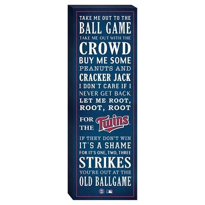 "Minnesota Twins ""Take Me Out To The Ballgame"" Canvas"