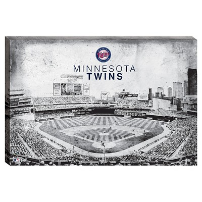 Minnesota Twins Vintage Stadium Canvas