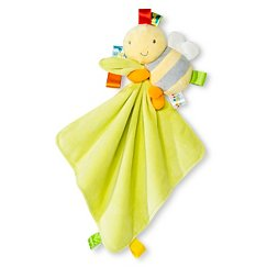 Taggies Security Blanket with Bumble Bee Plush - Yellow/Lime