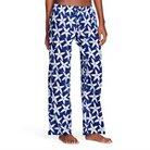 Flora by Rockflowerpaper Women's Woven Sleep Pajama Pant - Starfish Navy S