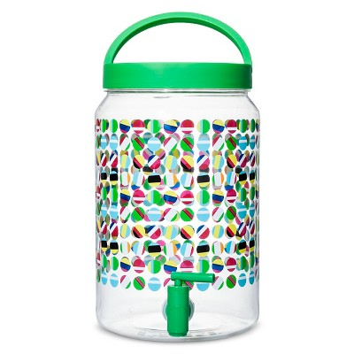 4.1 liter Plastic Beverage Dispenser - Multi-colored Dots
