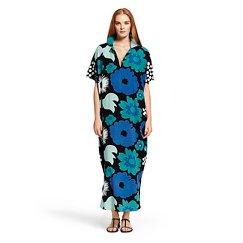 Marimekko for Target Women's Long Kaftan Dress - Kukkatori Print - Blue