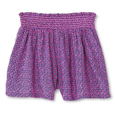 Baby Girls' Challis Smocked Waist Short Pink 12M - Cherokee®
